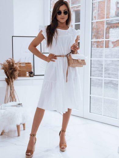 Dámské šaty MANUELLA bílá barva
