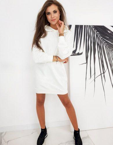 Dámské mikinové šaty s nápisem BREAK ME BY0549