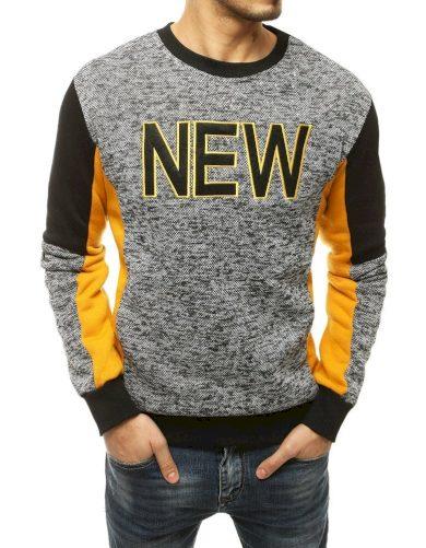 Pánská mikina bez kapuce kontrastní pulovr s nápisem NEW