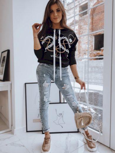 Stylová mikina pro dámy s potiskem pulovr oversize