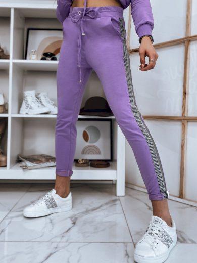 Klasické tepláky s ozdobnými pruhy na nohavicích
