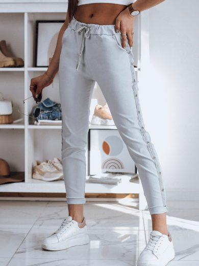 Dámské kalhoty s ozdobnými popruhy na bocích