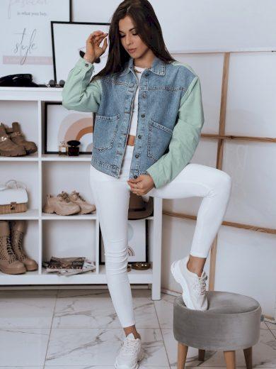 Dámská bunda džínový model DEFINE modrá Dstreet