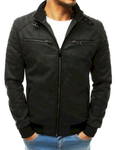 Bunda kožená / koženková pánská v černé barvě Dstreet
