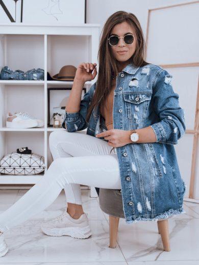 Dámská bunda džínový model KLARISSA II modrá Dstreet