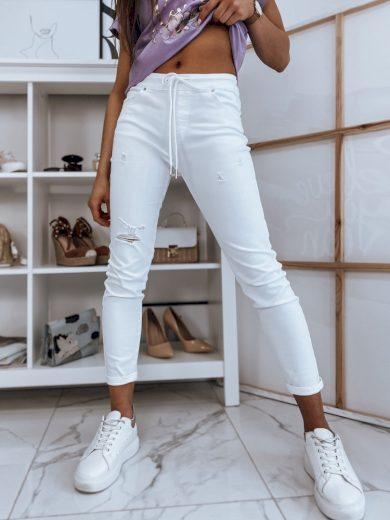 Kalhoty dámské DESTY bílé Dstreet