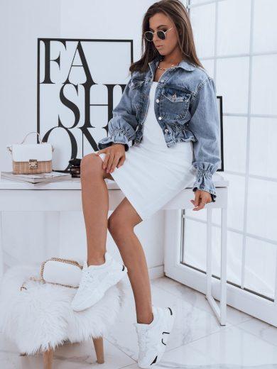 Dámská bunda džínový model SAMANTA modrá Dstreet