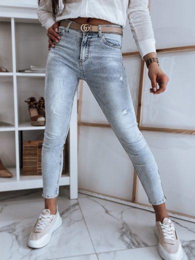 Dámské riflové kalhoty džíny JUSTY modré Dstreet