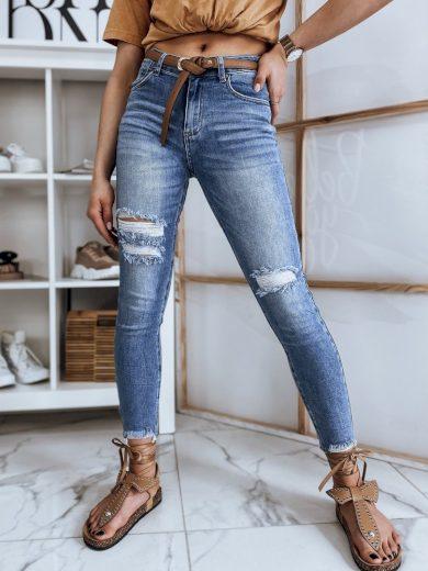 Dámské riflové kalhoty džíny HIGH modré Dstreet