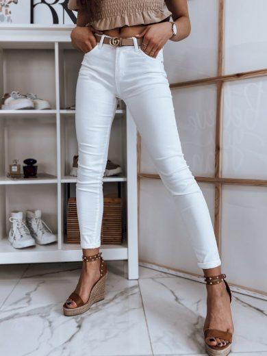Dámské riflové kalhoty džíny HANN bílé Dstreet