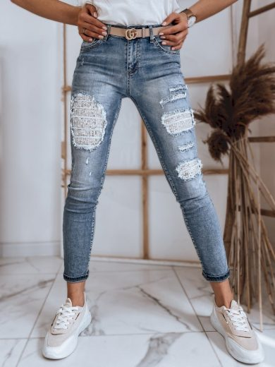 Dámské riflové kalhoty džíny COLLY modré Dstreet