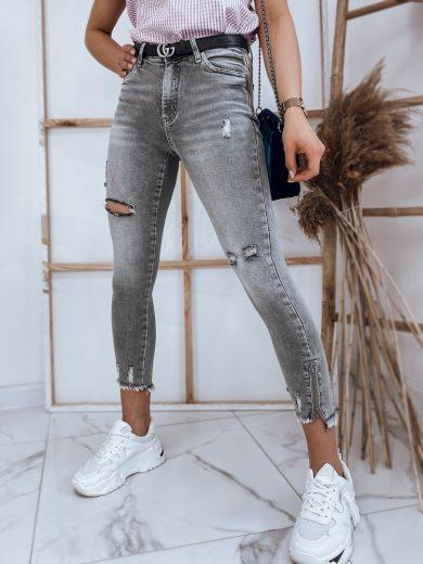 Dámské riflové kalhoty džíny RASHA v šedé barvě Dstreet
