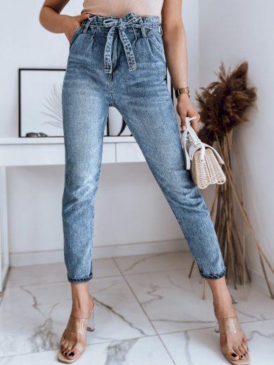 Dámské riflové kalhoty džíny DELIA v šedé barvě Dstreet