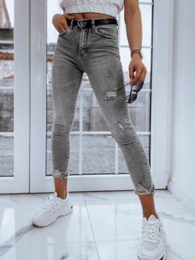 Dámské riflové kalhoty džíny JESSA II v šedé barvě Dstreet