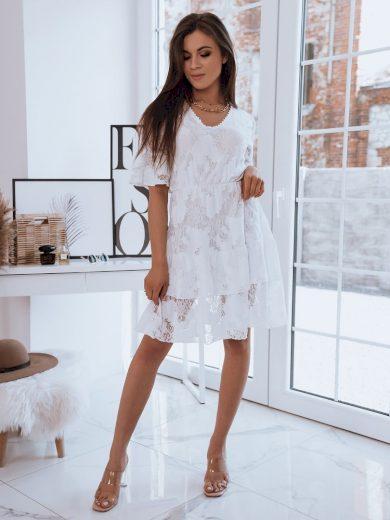 Dámské šaty ažurové SABINA bílá barva Dstreet
