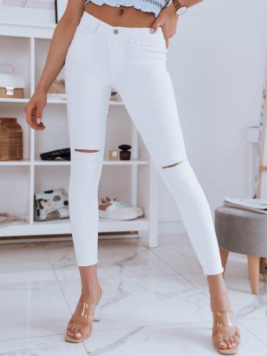 Dámské riflové kalhoty džíny THINA bílé Dstreet