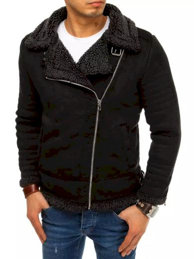 Pánská zimní bunda semišová s kožešinovou podšívkou