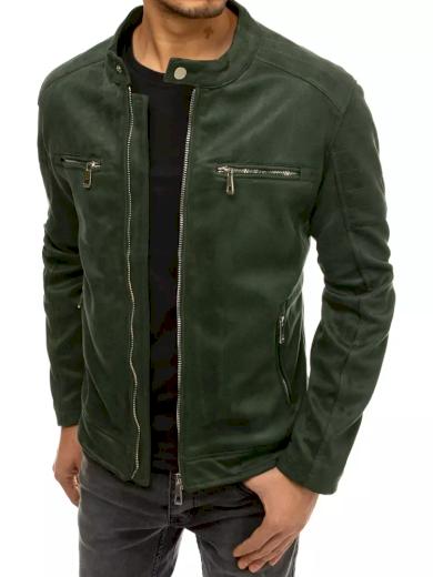 Pánská přechodová bunda s podšívkou semišová bunda v různých barvách