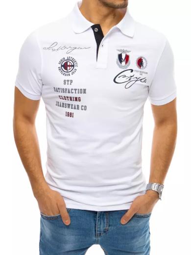 Pánské polo tričko s výšivkou černé Dstreet PX0400