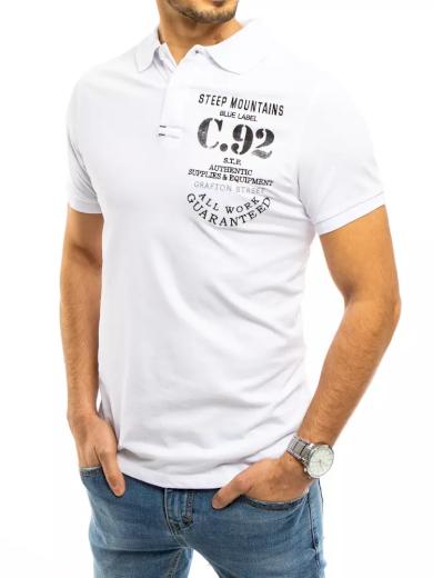 Pánské polo tričko bílé Dstreet PX0457
