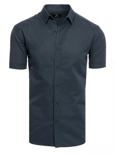 Pánská košile s krátkým rukávem bílá Dstreet
