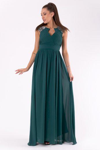Večerní šaty s holými zády a třpytivými kamínky plesové šaty