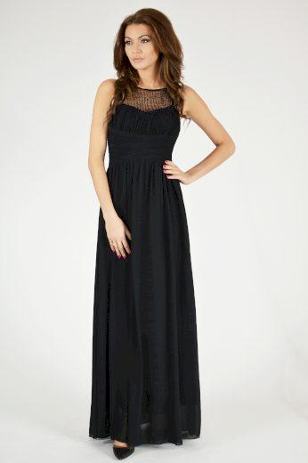 Společenské šaty s korálky plesové šaty se síťovinou