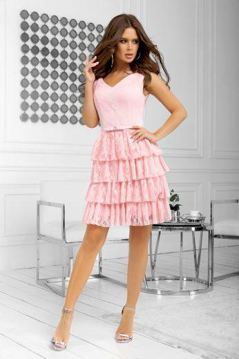 Koktejlové šaty do tanečních tylové šaty s volánkovou sukní