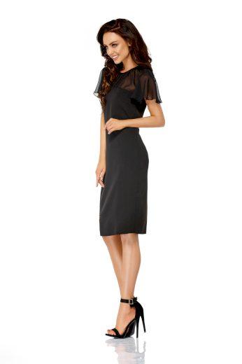 Pouzdrové dámské šaty se síťkou