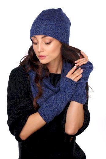 Pletený set pro zimní dny čepice + rukavice + šála