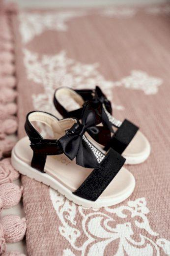 Dětské Sandály pro Dívky na Suchý Zip Stříbrné Bella