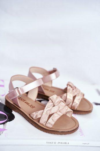 Dětské Sandály pro Dívky vzor Had Růžové Lilo