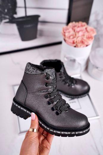 Dětské boty zateplené šedéSnowflake