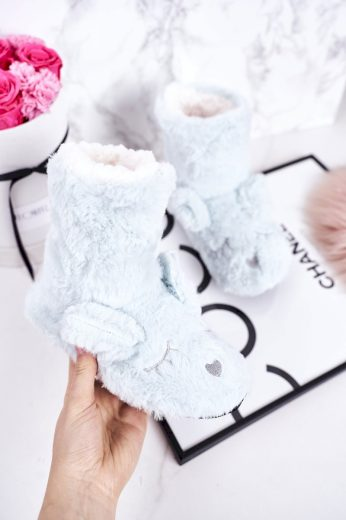Dětské Pantofle Izolované Z Kůže Fuchsie Sleepyhead