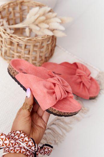 Dětské Pantofle Na Korku Práškově růžove Little Wendy