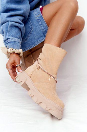 Semišové Boty Workery Lewski Shoes 3006-0 Sandové