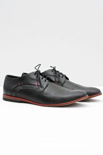 Elegantní pánské kožené boty Isacco Navy