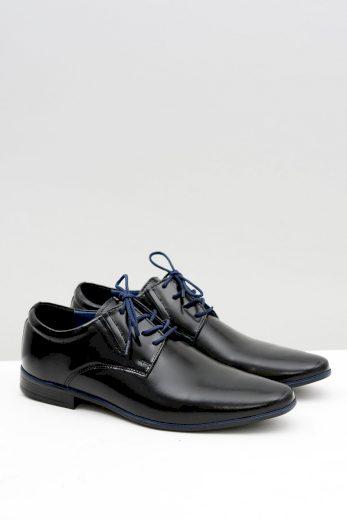 Černé pánské formální boty Marcello