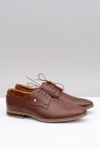 Hnědé elegantní kožené boty Refugio