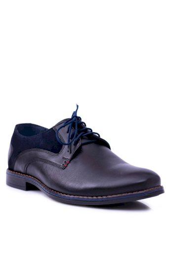 Nikopol Černé kožené pánské boty Zinedine
