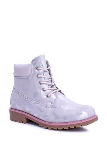 Dětská teplé kotníkové boty šedé MoroStyle