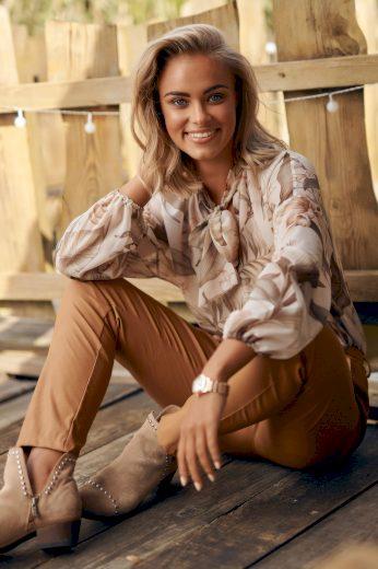 Klasické dámské kalhoty z ekokože kalhoty s pomačkaným efektem