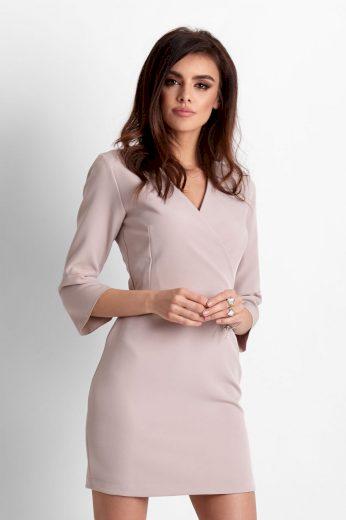 Pouzdrové šaty s obálkovým výstřihem délky mini