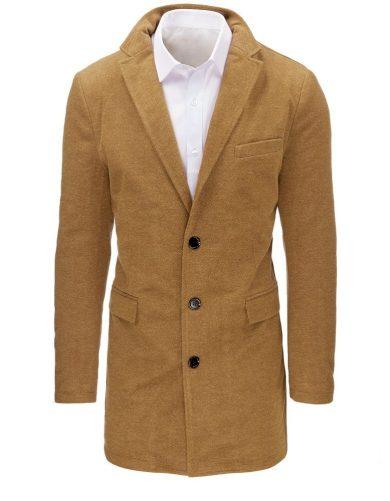 Pánský zimní kabát na knoflíky se zateplenou podšívkou