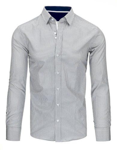 bílo-v černé barvě Pánská košile s pruhy