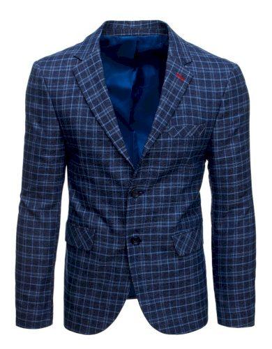 Pánské elegantní sako na dva knoflíky s kapsami sako s podšívkou
