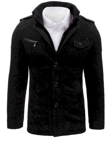 Pánský kabát jednořadý kabátek se stojatým límcem