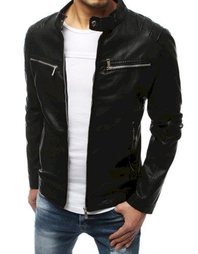 Pánská kožená přechodová bunda na zip se stojatým límcem