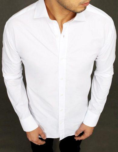 Elegantní pánská košile v bílé barvě s dlouhými rukávy