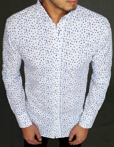 bílá Vzorovaná pánská košile s potiskem